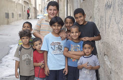 Young Iraq Refugee Boys Royalty Free Stock Images