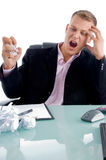 Young irritated executive stock images