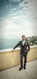 Young Italian groom before marriage in Sorrento peninsula. Royalty Free Stock Photos