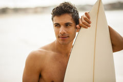Young Italian surfer portrait royalty free stock photography