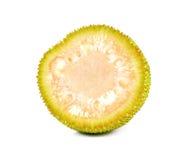 Young Jackfruit cut half on white background. Stock Image