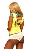 Young Jamaican girl in panties. Stock Photos