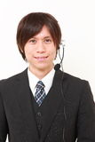 Young Japanese businessman of call center Stock Image