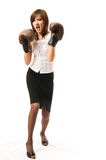 The young japanese businesswoman Attacks royalty free stock photo