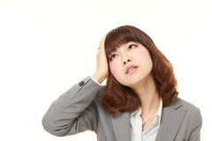 Young Japanese businesswoman has lost her memory Stock Photos