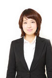 Young Japanese businesswoman smiles Stock Photography