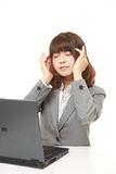 Young Japanese businesswoman suffers from headache royalty free stock photos
