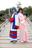 Young japanese female cosplayers Stock Photos