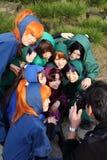 Young japanese female cosplayers, ninja Royalty Free Stock Photo