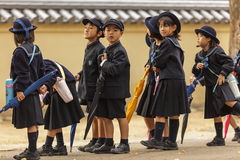 Young Japanese pupils Royalty Free Stock Images