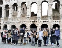 Young Japanese Tourists In Italy Stock Images