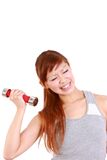 Young Japanese woman doing tight training Stock Images