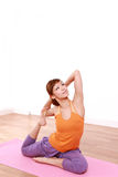 Young Japanese Woman Doing YOGA Royalty Free Stock Photography