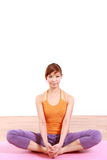 Young Japanese Woman Doing YOGA Stock Image