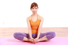 Young Japanese Woman Doing YOGA Stock Photos