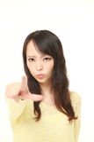 young Japanese woman scolding Stock Images