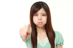 Young Japanese woman scolding    Royalty Free Stock Images