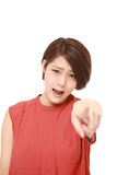 Young Japanese woman scolding Stock Photography
