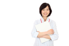 Young japanese women with a file Stock Photos