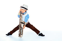 Young jazzman Stock Photo