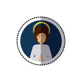 Young jesus christ. Icon vector illustration graphic design Stock Image