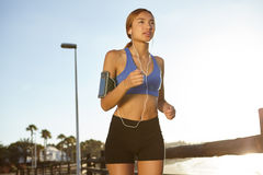 Young jogger living a healthy lifestyle Royalty Free Stock Photo