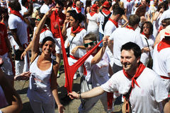 Young jokingly San Fermin Pamplona Royalty Free Stock Photo