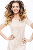 Young joyful lady with pretty smile Royalty Free Stock Images