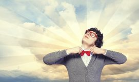 Young joyful man Royalty Free Stock Image