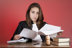 Young judge Stock Photography