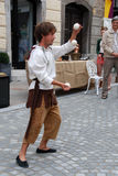 Young juggler Stock Images