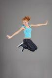 Young jumping woman Royalty Free Stock Photos