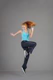 Young jumping woman Stock Photos