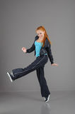 Young jumping woman Stock Photography