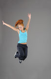 Young jumping woman Royalty Free Stock Photography