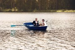 Young just married bride and groom Royalty Free Stock Photo