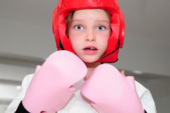Young karate girl royalty free stock image