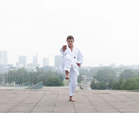 Young karate master Royalty Free Stock Photos