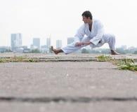 Young karate master royalty free stock photo
