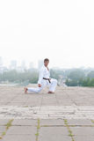 Young karate master Royalty Free Stock Photography