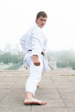Young karate master Stock Photo