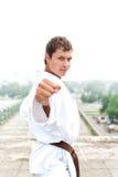 Young karate master Stock Photos