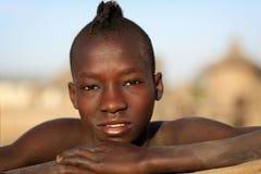 Young Karo boy in South Omo, Ethiopia Stock Photo