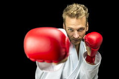Young kick boxer Royalty Free Stock Image
