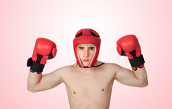 Young Kickboxer with many muscle Royalty Free Stock Image