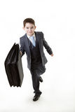 Young kid dressed up as a business person Royalty Free Stock Images