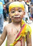 Young Kid In Festival Of Cows Gaijatra Royalty Free Stock Photography