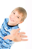 Young kid laughing Stock Image