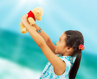 Young Kid On Vacation At The Beach Royalty Free Stock Photos