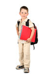 Young kid is ready for school. Royalty Free Stock Images